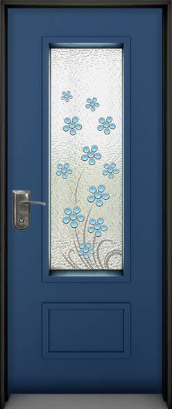 פרחים כחול עמוק